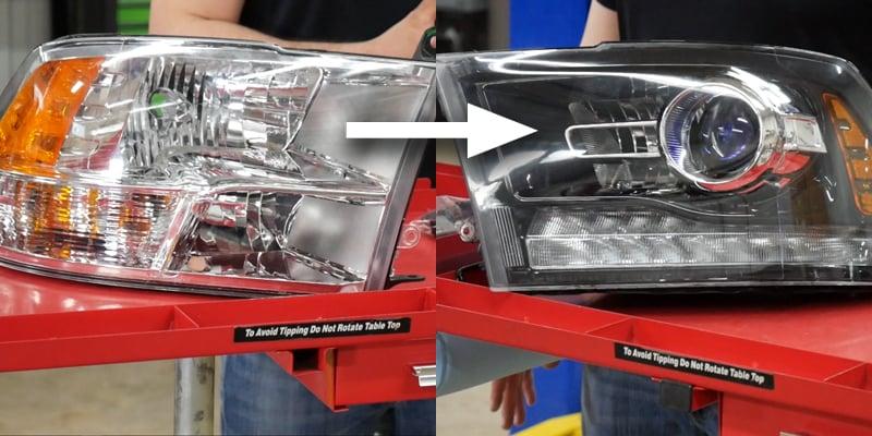 RAM-headlight-harness-of-Projector-install