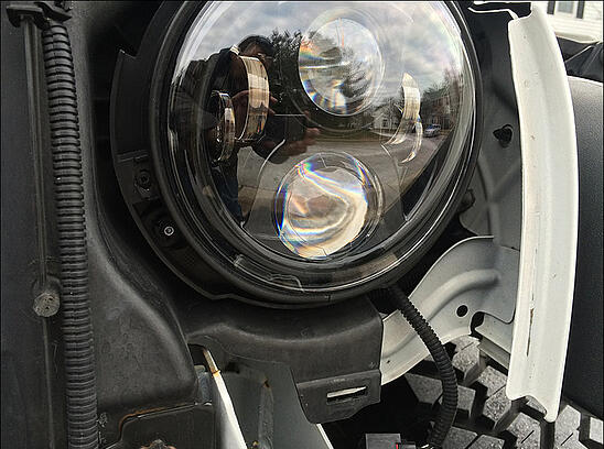 JW Speaker LED headlights in jeep 2