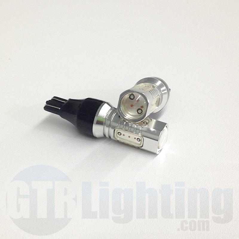 GTR Lighting T15/921 Lightning Series LED Bulbs in Red