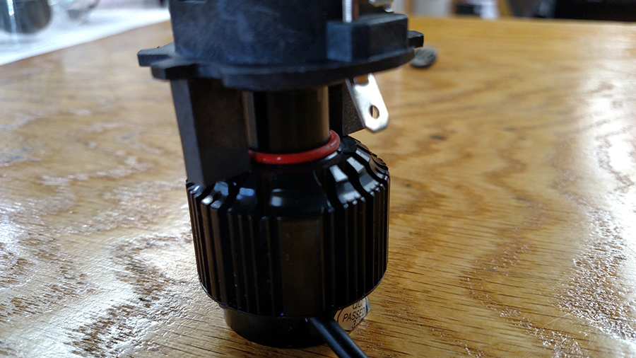 H7 LED Headlight bulb with adapter